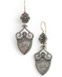 Konstantino - 'silver Classics' Shield Drop Earrings - Lyst