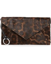 AllSaints - Voltaire Large Envelope Genuine Calf Hair Clutch - - Lyst
