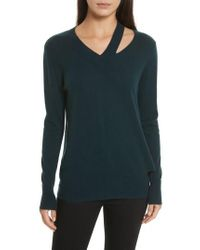 Autumn Cashmere - Cashmere Slash Boyfriend Sweater - Lyst
