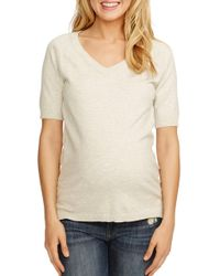 Rosie Pope - 'avery' V-neck Maternity Sweater - Lyst