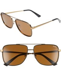 59ef2983503d Quay - Modern Times 57mm Polarized Aviator Sunglasses - Bronze Black /  Brown Lens - Lyst