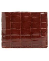 Mezlan - Alligator Leather Bifold Wallet - Lyst