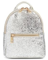 mali + lili - Mali + Lili Glitter Vegan Leather Backpack - Metallic - Lyst