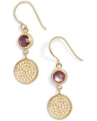 Anna Beck | Semiprecious Stone Double Drop Earrings | Lyst