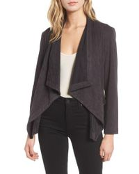 Cupcakes And Cashmere - Faux Suede Waterfall Jacket - Lyst