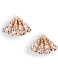 Dana Rebecca - Dana Rebecca Isla Rio Diamond Fan Stud Earrings - Lyst