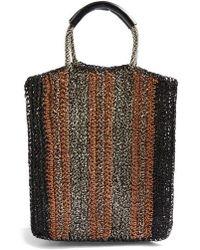 TOPSHOP - Bath Stripe Straw Tote Bag - - Lyst