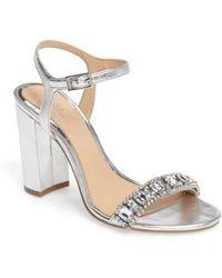 Badgley Mischka - Hendricks Embellished Block Heel Sandal - Lyst