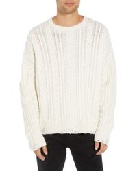 The Kooples - Oversize Distressed Wool Blend Sweater - Lyst