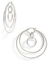 Vince Camuto - Large Pave Multi Hoop Earrings - Lyst