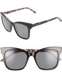 416264bc1dc38 Lyst - Kate Spade  kandi  56mm Cat Eye Sunglasses - Blush Tortoise ...