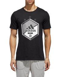adidas - Slim Fit Soccer Graphic T-shirt - Lyst