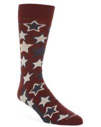 Lorenzo Uomo - Red Stars Crew Socks - Lyst
