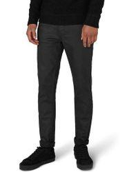 TOPMAN - Matte Coat Skinny Fit Jeans - Lyst