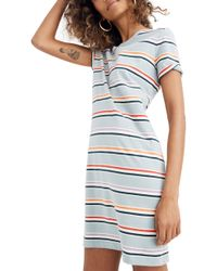 65688e4cc0df7 Madewell Abroad Dress in Blue - Lyst