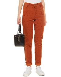 TOPSHOP - Corduroy Mom Jeans - Lyst