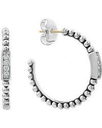 Lagos - Caviar Spark Diamond Hoop Earrings - Lyst