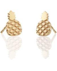 Kris Nations - Pineapple Stud Earrings - Lyst