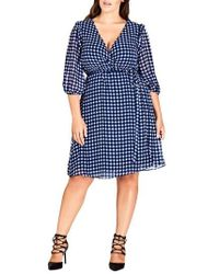 City Chic - Blue Bell Dress - Lyst