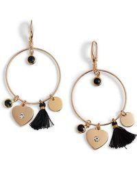 Elise M - Samantha Tassel & Charm Hoop Earrings - Lyst