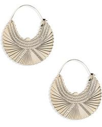 TOPSHOP - Engraved Hoop Earrings - Lyst