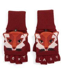 Kate Spade - Foxy Convertible Mittens - Lyst