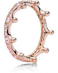 PANDORA - Crown Stacking Ring - Lyst