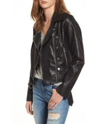 Maralyn & Me - Textured Faux Leather Jacket - Lyst