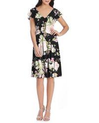 After Six - Floral Print Chiffon Cocktail Dress - Lyst