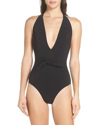 8cbdd2cca7 Tory Burch Emmarentia Underwire One-piece Swimsuit in Orange - Lyst