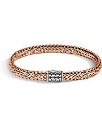 John Hardy - Men's Bronze & Silver Classic Chain Bracelet - Lyst