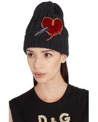 Dolce & Gabbana - Wool Logo Beanie - - Lyst