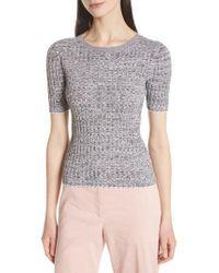 Theory - Marled Rib Knit Crewneck Sweater - Lyst