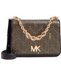 MICHAEL Michael Kors - Mott Leather Top Handle Bag - Lyst