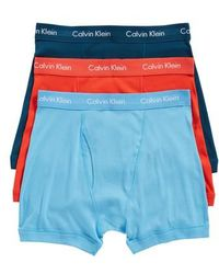 Calvin Klein - 3-pack Boxer Briefs, Blue - Lyst