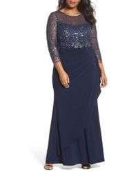 Decode 1.8 - Lace & Jersey Gown - Lyst