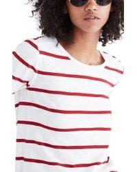 Madewell - Whisper Cotton Stripe Long Sleeve Tee - Lyst