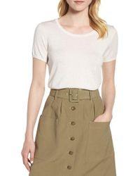 Nordstrom - Silk Cashmere Crewneck Sweater - Lyst