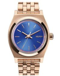 Nixon | 'the Small Time Teller' Bracelet Watch | Lyst