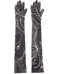 Dries Van Noten - Tattoo Print Gloves - Lyst