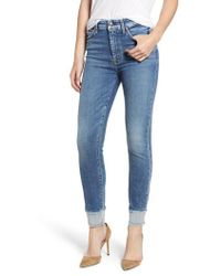 7 For All Mankind - 7 For All Mankind High Waist Reverse Hem Ankle Skinny Jeans - Lyst