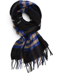 Burberry - Giant Check Cashmere Scarf - Lyst