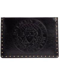 Balmain - Mini Domaine Embossed Coin Calfskin Bag - - Lyst