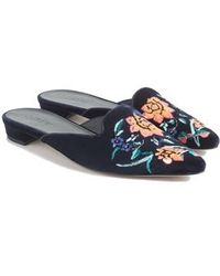 J.Crew | J.crew Embroidered Smoking Slipper Mule | Lyst