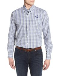 Cutter & Buck - Indianapolis Colts - Gilman Regular Fit Plaid Sport Shirt - Lyst