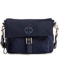7876fbbe57d4 Lyst - Tory Burch Tilda Printed Nylon Crossbody Bag - in Blue