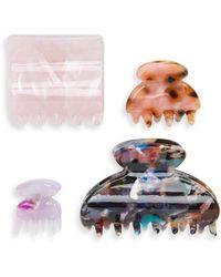 Tasha - 4-pack Hair Clips, Pink - Lyst