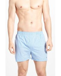 Polo Ralph Lauren - 3-pack Woven Cotton Boxers, Blue - Lyst