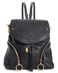 See By Chloé - Olga Large Leather Backpack - Lyst