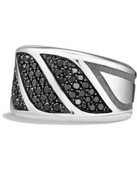 David Yurman - 'graphic Cable' Band Ring - Lyst